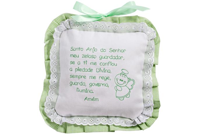 65434022d12cf Enfeite de porta para maternidade com Oração do Santo Anjo